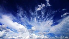 Het drama van Cloudscape Stock Foto's
