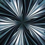 Het dramatische Radiale abstracte patroon van het waveyglas Stock Fotografie