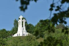 Het Drie Kruisenmonument, Vilnius stock fotografie