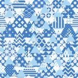 Het driehoekspatroon sneed velen vrij symmetrie naadloos patroon vector illustratie