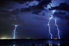 Het Drievoud van de bliksem Stock Foto's