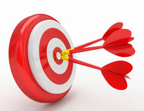 Het drievoudige schot van het dartboardspel Royalty-vrije Stock Fotografie