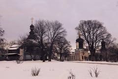 Het Drievuldigheidsklooster van St Jonas in Kiev Stock Foto