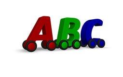 Het drijven abc stock illustratie