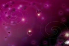 Het drijven en dromerige valentijnskaartachtergrond Royalty-vrije Stock Fotografie