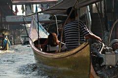 Het drijven markt in Thailand Royalty-vrije Stock Afbeeldingen