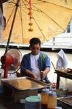 Het drijven markt in Thailand Stock Foto's