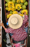 Het drijven markten in Damnoen Saduak, Thailand royalty-vrije stock foto's