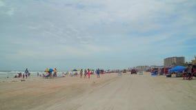 Het drijven op Daytona Beach stock video