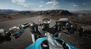 Het drijven op motorfiets Stock Afbeelding