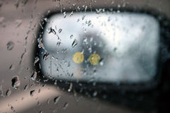 Het drijven in regen II Stock Foto