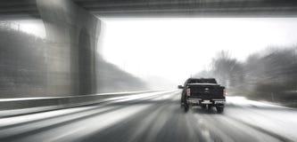 Het drijven in sneeuw Royalty-vrije Stock Afbeeldingen