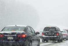 Het drijven in sneeuw Stock Fotografie