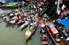 Het Drijven van Amphawa Markt Stock Afbeelding