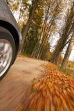 Het drijven van de auto bij de landweg. Royalty-vrije Stock Fotografie