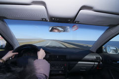Het drijven van een auto Royalty-vrije Stock Afbeelding