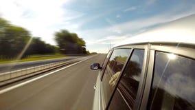 Het drijven van een mening Car Geschoten op Canon 5D Mark II met Eerste l-Lenzen stock videobeelden