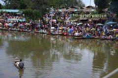 Het Drijven van Songkhlakhlong Hae Markt Stock Afbeeldingen