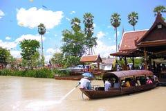 Het drijven van Thailand markt Stock Afbeeldingen