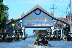 Het drijven van Thailand markt Stock Foto