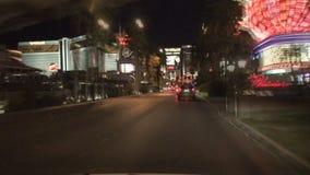 Het drijven in Vegas - Front Camera Mount - versnelt stock footage
