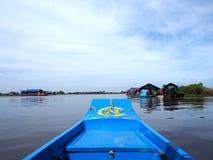 Het drijvende dorp, Tonle-Sap, Kambodja, Siem oogst Royalty-vrije Stock Afbeelding