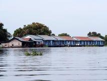 Het drijvende dorp, Tonle-Sap, Kambodja, Siem oogst Royalty-vrije Stock Foto's