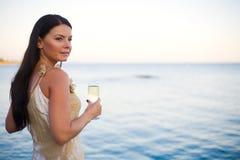Het drinken Champagne royalty-vrije stock foto