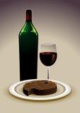 Het drinken en het eten Stock Foto's