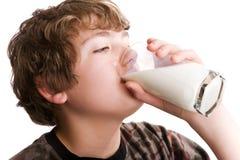 Het drinken melk Royalty-vrije Stock Foto
