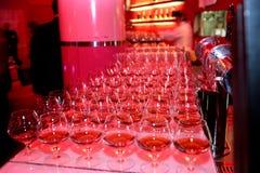 Het drinken op de partij Royalty-vrije Stock Afbeeldingen
