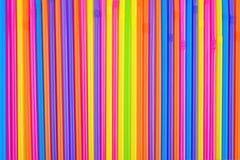 Het drinken stro als kleurrijke achtergrond Royalty-vrije Stock Foto