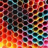 Het drinken stro Macro abstract beeld met mooie multi-colored achtergrond Vector Illustratie