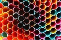 Het drinken stro Macro abstract beeld met mooie multi-colored achtergrond Royalty-vrije Illustratie