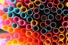 Het drinken stro Macro abstract beeld met mooie multi-colored achtergrond Stock Illustratie