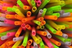 Het drinken stro van kleurrijk Stock Fotografie