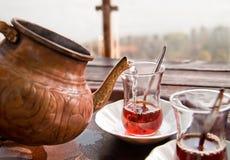 Het drinken Traditioneel Turks Stock Afbeelding