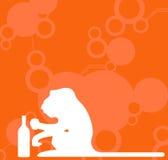 Het drinken van de aap vector illustratie