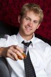 Het Drinken van de mens Stock Foto's