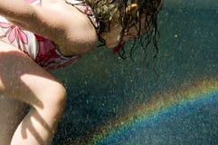 Het drinken van de regenboog Stock Fotografie