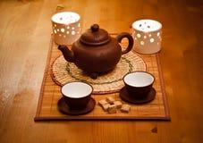 Het drinken van de thee Royalty-vrije Stock Foto