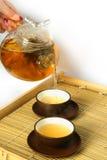 Het drinken van de thee Royalty-vrije Stock Afbeeldingen
