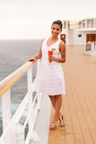 Het drinken van de vrouw cocktail Royalty-vrije Stock Afbeelding