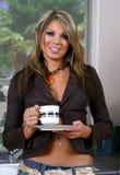 Het drinken van de vrouw koffie Royalty-vrije Stock Fotografie