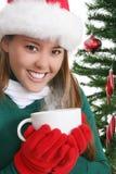 Het Drinken van de vrouw Koffie stock afbeeldingen