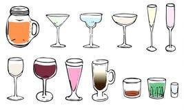 Het drinken van glazen royalty-vrije stock fotografie