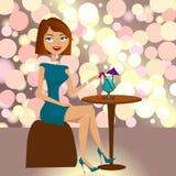 Het drinken van het meisje Royalty-vrije Stock Foto's