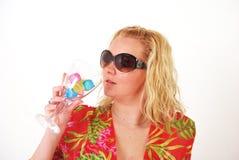 Het drinken van het meisje Royalty-vrije Stock Afbeelding