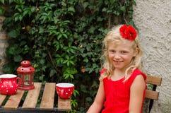 Het drinken van het meisje thee Royalty-vrije Stock Afbeelding