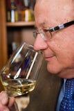 Het drinken van wijn Stock Fotografie